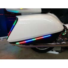 2012+ Black Saddlebag Accent Light Bars with Rollin' Eyes built in